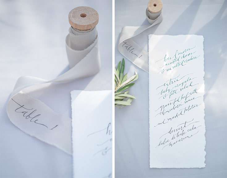 calligraphy menu by Ezer Calligraphy & Design