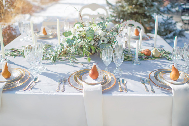 Table scape styled by Ashley Nicole Events