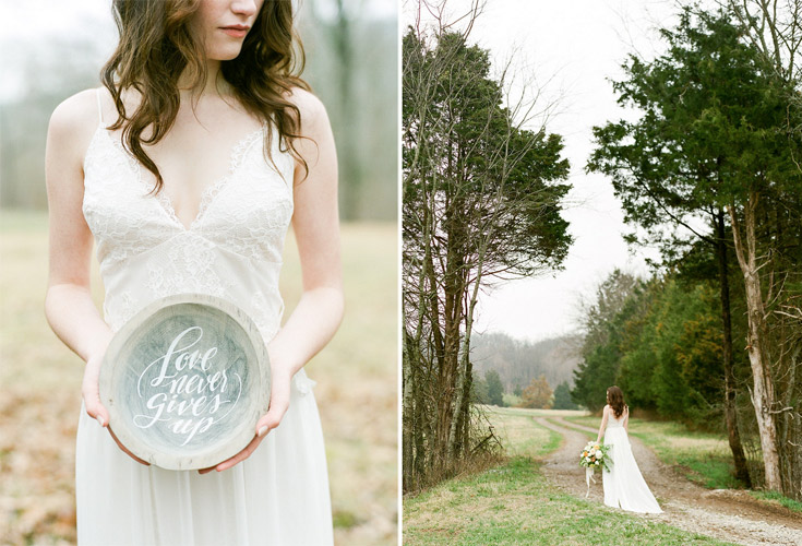 Handlettered bowl by Taryn Eklund Ink | A Vintage Affair Events | Connie Whitlock Photography
