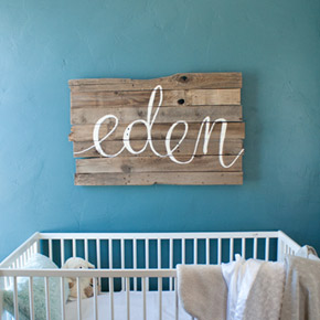 baby name art for nursery | Taryn Eklund Ink