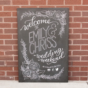 Wedding welcome sign | Taryn Eklund Ink