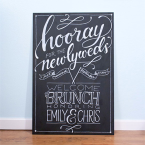 chalkboard welcome sign | Taryn Eklund Ink