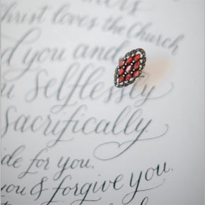 calligraphy wedding vows | Taryn Eklund Ink | Carrie King Photography