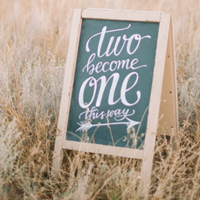 custom wedding sign | Taryn Eklund Ink | Carrie King Photographer