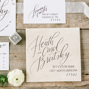 calligraphed invitation suite | Taryn Eklund Ink | photo by Connie Whitlock Photography