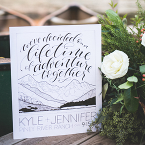 We've decided on a lifetime of adventure together commemorative wedding poster | Taryn Eklund Ink | Daylene Wilson Photography