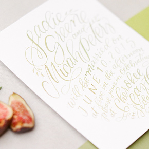 Wedding invitation design | Taryn Eklund Ink | Connie Whitlock Photography