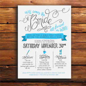 bridal shower invitation design | Taryn Eklund Ink
