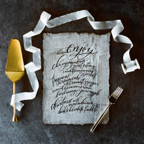 hand lettered menu | Taryn Eklund Ink