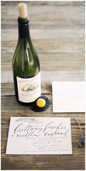 Simple calligraphy invitation | Taryn Eklund Ink | Rachel Havel Photography